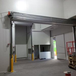 Coolroom doors at Melbourne Market