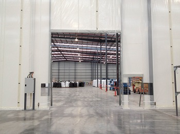 Flexwall warehouse semi-permanent partitioning