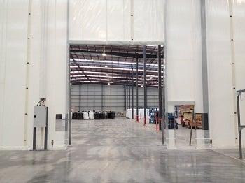 Flexwall warehouse semi-permanent partitioning