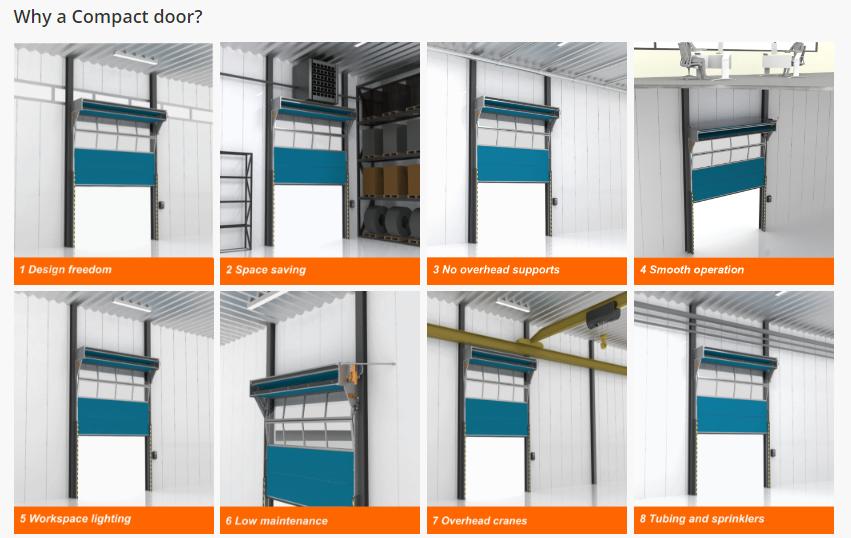 Benefits of a Compact Door  sc 1 st  Remax Products & Compact Sectional Doors | Remax Products