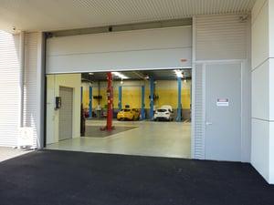 Car Showroom Doors Servicing Bays