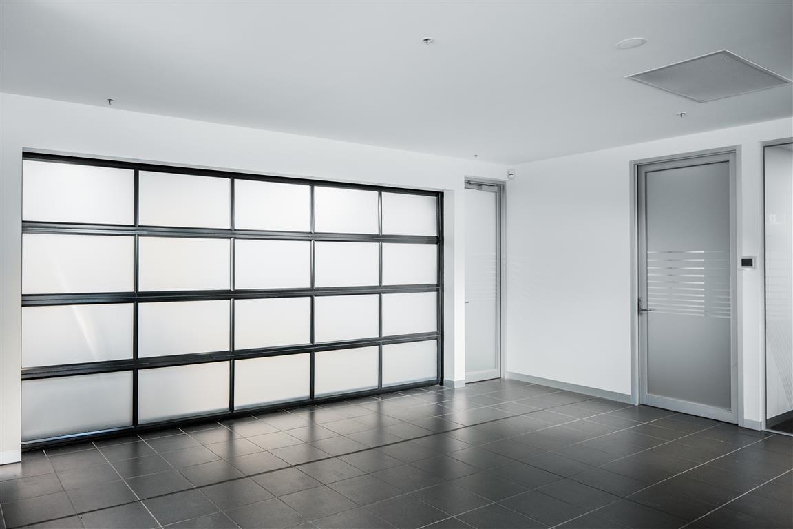 opaque car showroom door