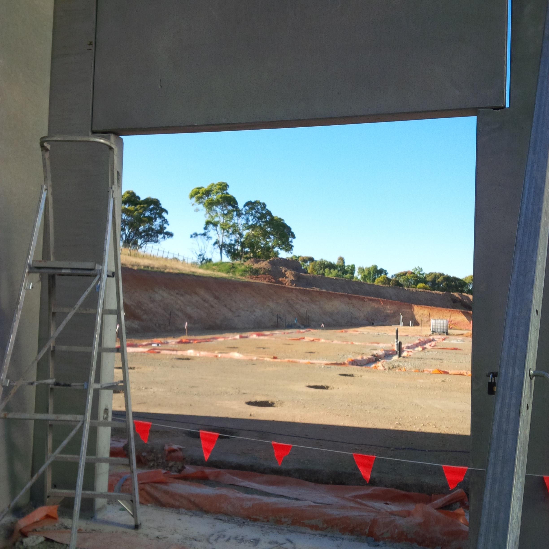 Coolroom doorway during construction