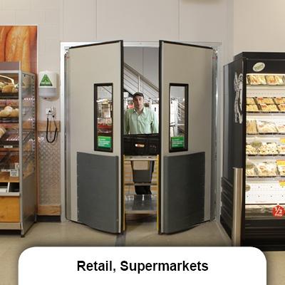 Retail_supermarket swing door