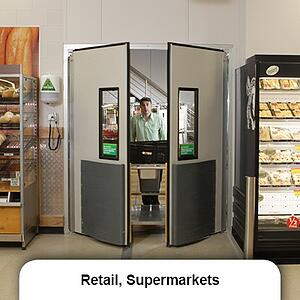 Retail_supermarket swing door