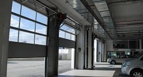 Glass Car Showroom Doors