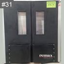 Discount Item 31_black pair of swingdoors