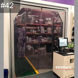 Item 42_PVC 2400 Swingdoor clearance item