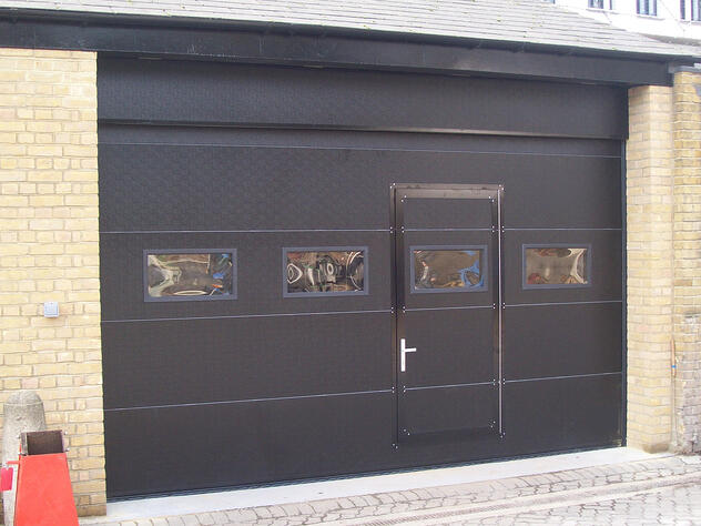 Wicket door black_compact sectional door