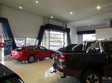 Glass sectional Doors Car Showroom