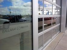 Glazed glass door