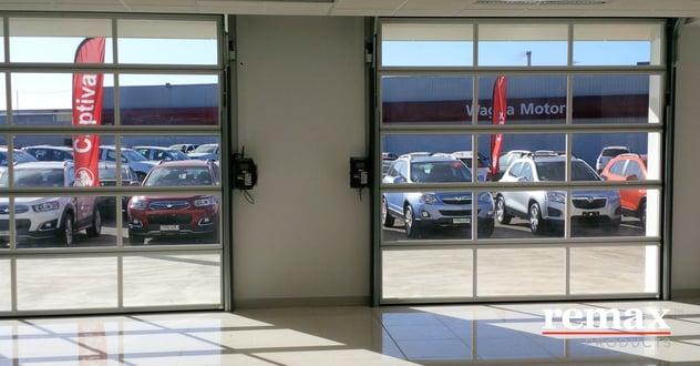 Wagga Motors glass showroom doors