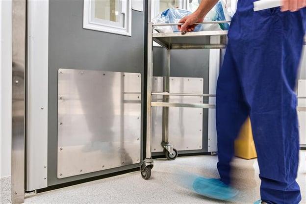 Hospital stainless steel Kickplates