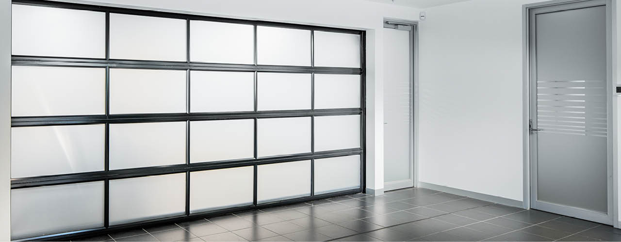 Opaque glass Sectional Door