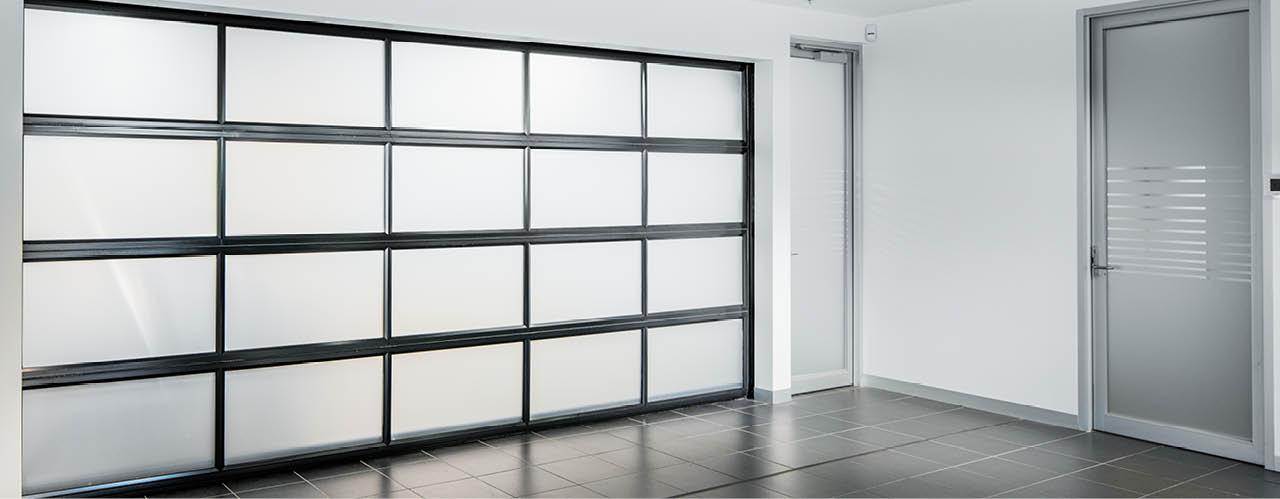 Opaque glass Sectional Door