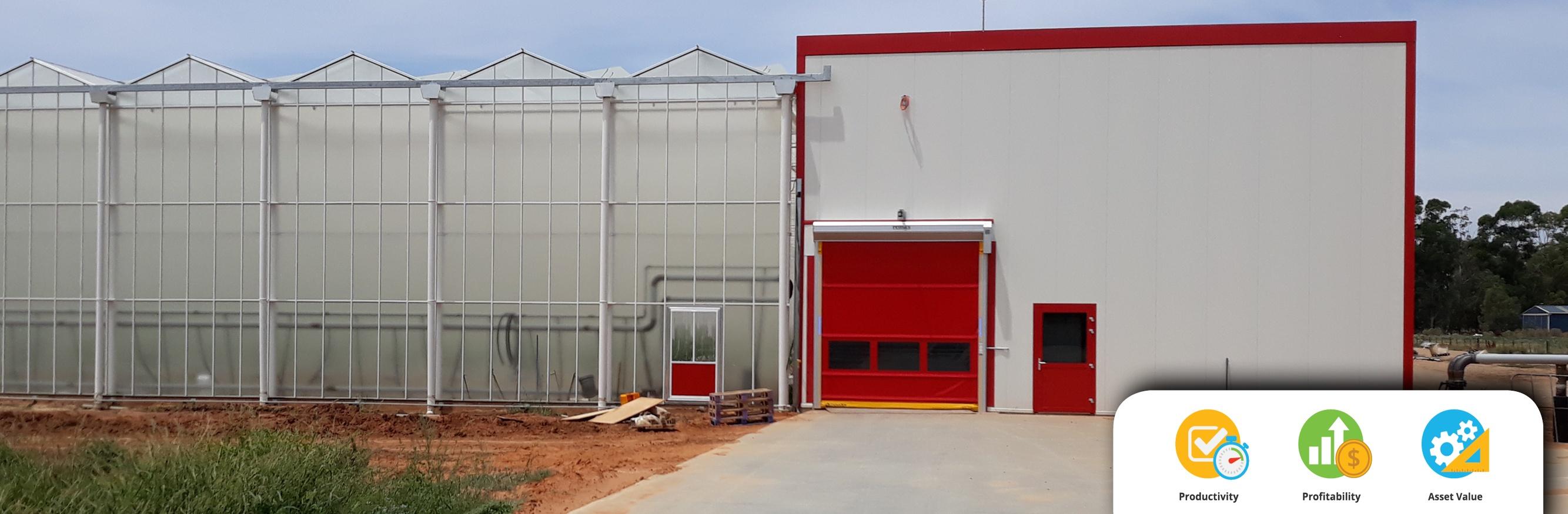 Movidor Rapid Door at Hydroponic Greenhouse