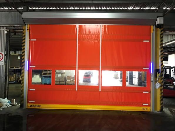 high speed doors at vizzarri farms